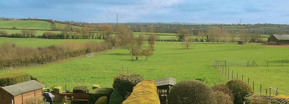Paxcroft Cottage 4 Star Bed & Breakfast, Trowbridge, Wiltshire Rear View