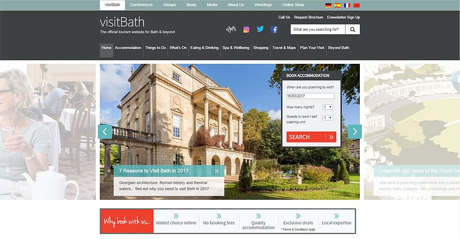 Visit Bath Website