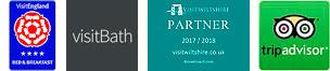 Visit England Logo - Visit Bath Logo - Visit Wiltshire Logo - Trip-Advisor Logo