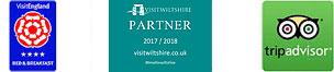Visit England Logo - Visit Wiltshire Logo - Trip-Advisor Logo