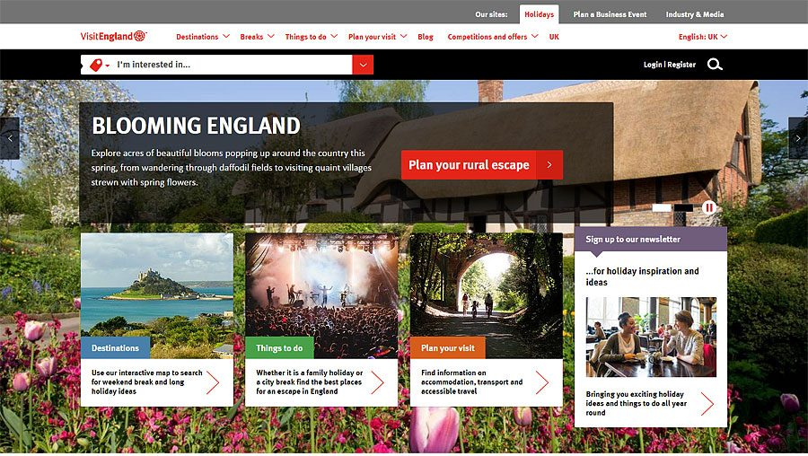 Visit England Website